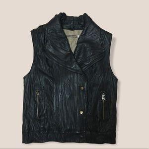 Mike & Chris Black Leather Vest